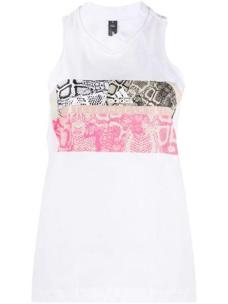 Kamizelka bez rękawów bawełniana z dekoltem w serek Adidas X Stella Mccartney