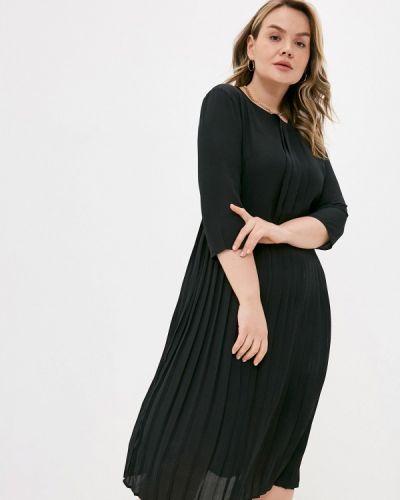 Клубное прямое черное платье А-силуэта Concept Club