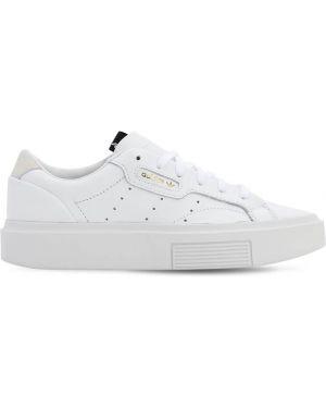 Кожаные кроссовки с перфорацией с логотипом Adidas Originals
