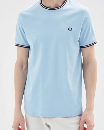 Голубая футболка Fred Perry