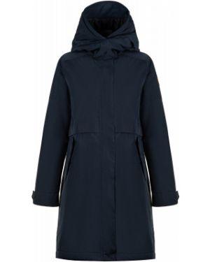 Прямая теплая синяя куртка с капюшоном на молнии Outventure