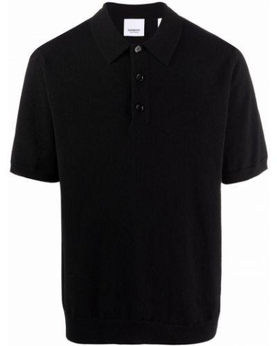 Czarna koszula z printem Burberry