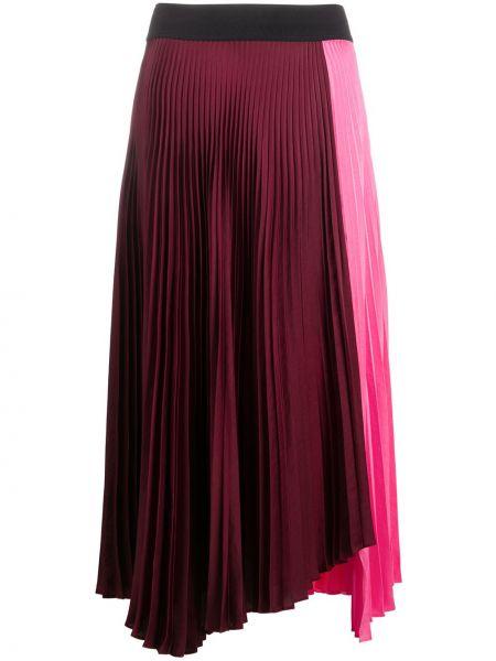 Розовая асимметричная с завышенной талией юбка Alc