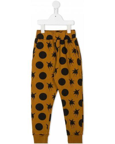 Ватные хлопковые желтые брюки с манжетами Wolf & Rita