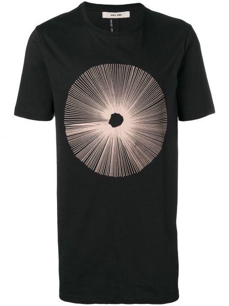 Czarny t-shirt bawełniany Damir Doma