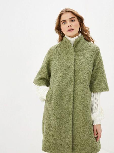 Зеленое пальто с капюшоном Imago