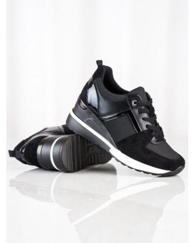 Sneakersy na koturnie skorzane W. Potocki