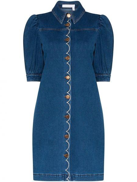 Джинсовое платье на пуговицах классическое See By Chloe