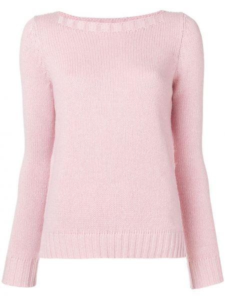 Розовый свитер в рубчик Aragona