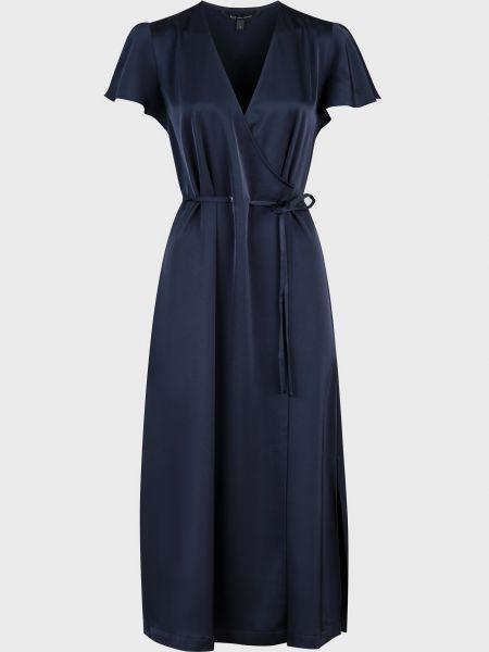Платье из полиэстера - синее Armani Exchange