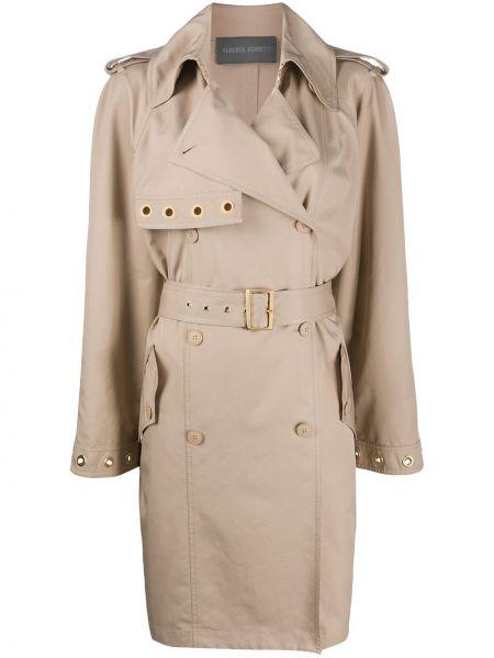 Длинное пальто с карманами двубортный Alberta Ferretti