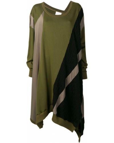 Свободное асимметричное платье в рубчик на молнии Koché