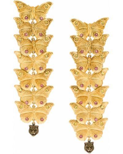 Серьги удлиненные золотого цвета Gucci