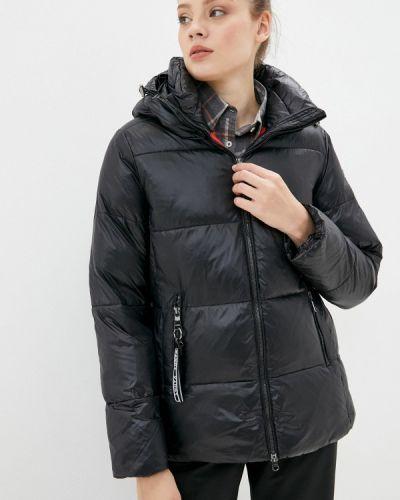 Теплая черная утепленная куртка Luhta