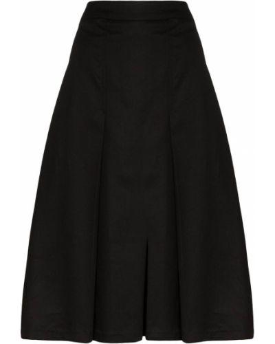 Черная расклешенная плиссированная юбка на молнии Carcel