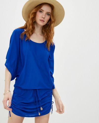 Пляжное синее платье Luli Fama