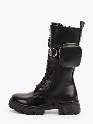 Черные кожаные сапоги Marquiiz