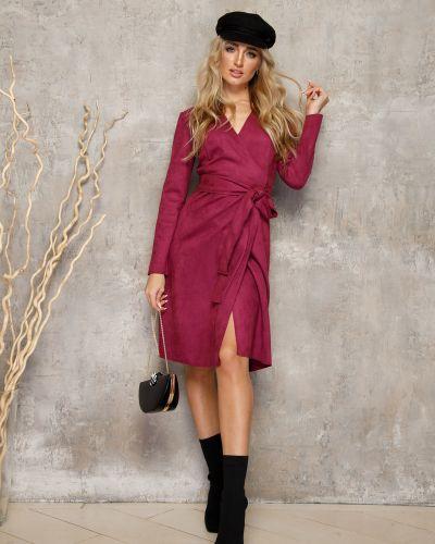 Замшевое платье миди Leleya