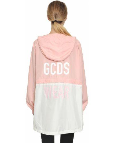 Розовая куртка с капюшоном с манжетами Gcds