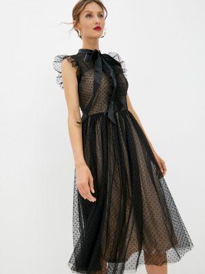 Черное платье осеннее Soky & Soka