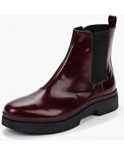 Кожаные ботинки бордовый Geox