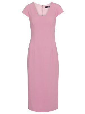Розовое платье миди из вискозы до середины колена Dolce & Gabbana