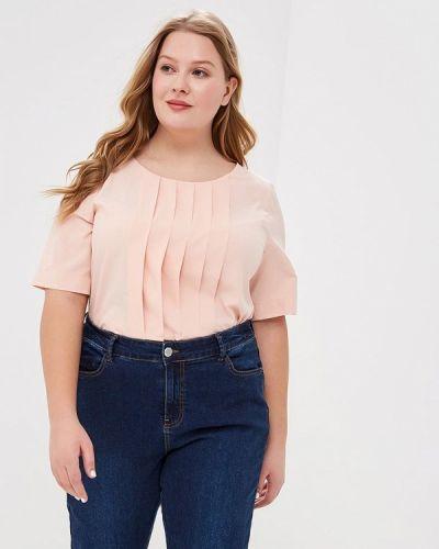 Блузка с коротким рукавом розовый весенний Balsako