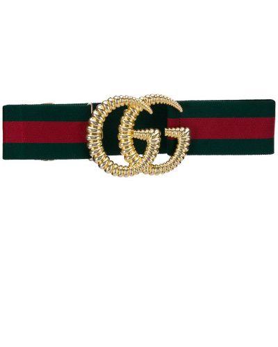 Ремень с логотипом зеленый Gucci