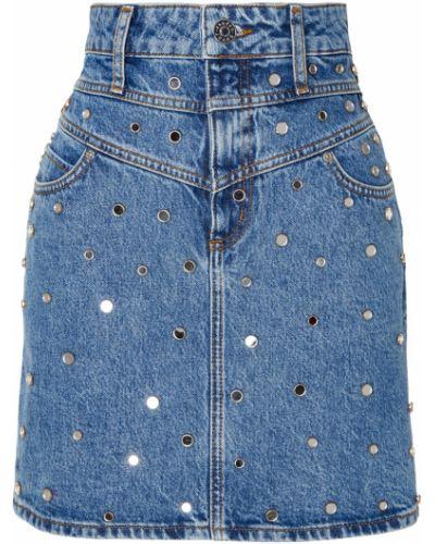 Юбка мини джинсовая с кокеткой Sandro