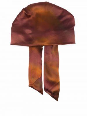 Разноцветная шапка - коричневая Eugenia Kim