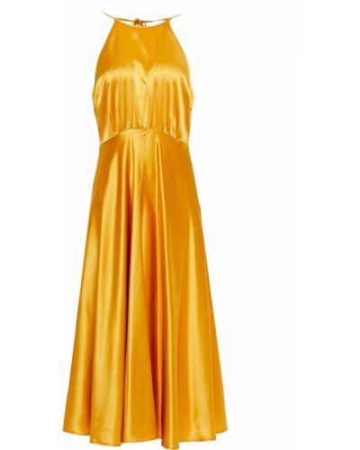 Открытое платье миди с открытой спиной с подкладкой SamsØe Φ SamsØe