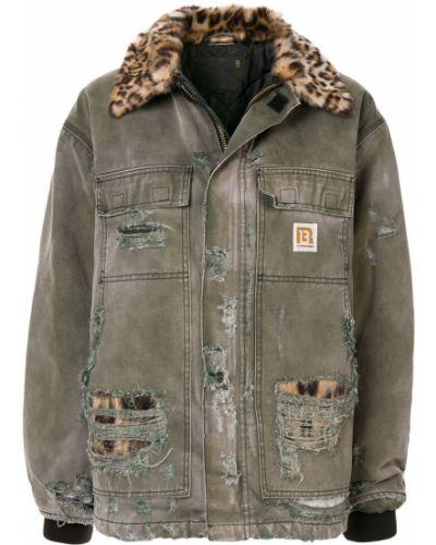 Куртка леопардовая с карманами R13