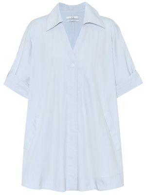 Ciepła niebieska koszula bawełniana Co