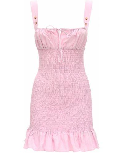 Różowa sukienka mini bez rękawów bawełniana Ciao Lucia
