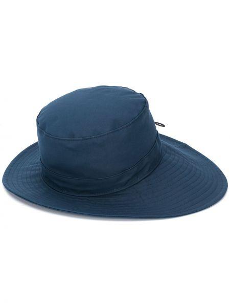 Prążkowany niebieski kapelusz skórzany Chloe