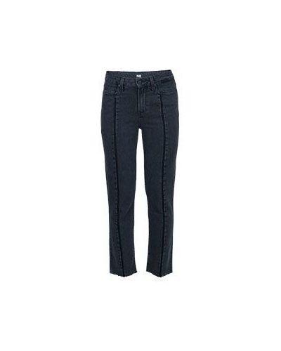 Прямые джинсы расклешенные серые Paige