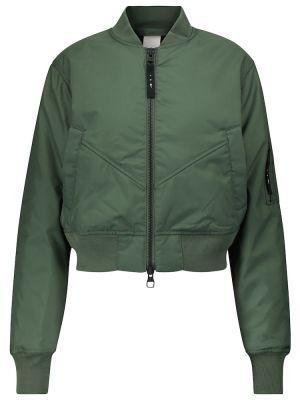 Зеленая приталенная куртка Reebok X Victoria Beckham