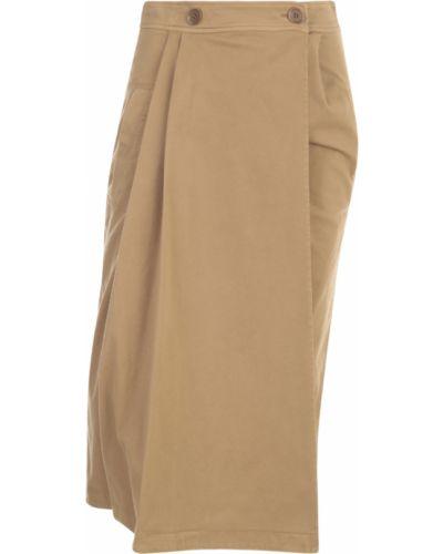 Brązowa spódnica plisowana Aspesi