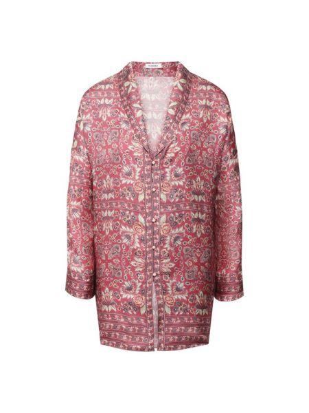 Шелковая рубашка - розовая Vilshenko