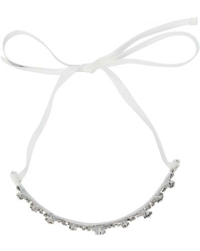 Biały tiara metal Monnalisa