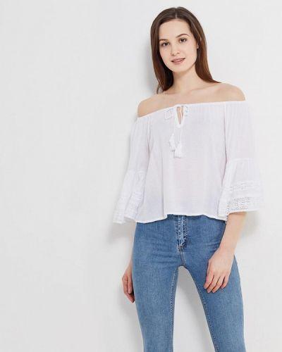 Ватная хлопковая белая блузка с длинным рукавом с длинными рукавами Fresh Cotton