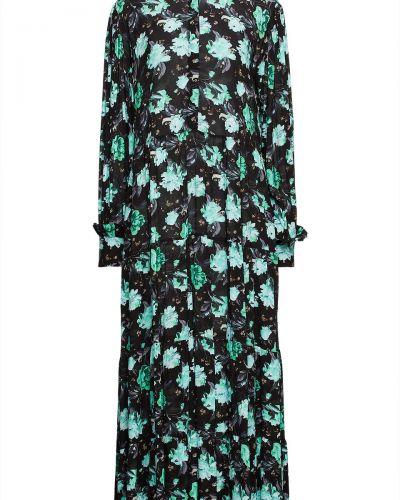 Платье миди с принтом - черное Paul & Joe