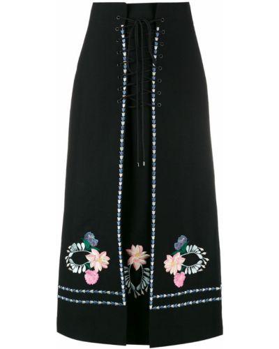 Юбка макси с завышенной талией с вышивкой Vilshenko