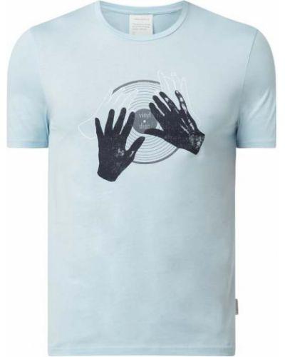 Niebieski t-shirt bawełniany Armedangels