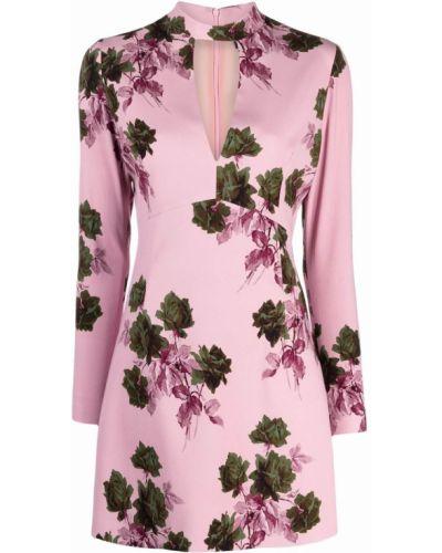 Розовое платье с принтом Blumarine