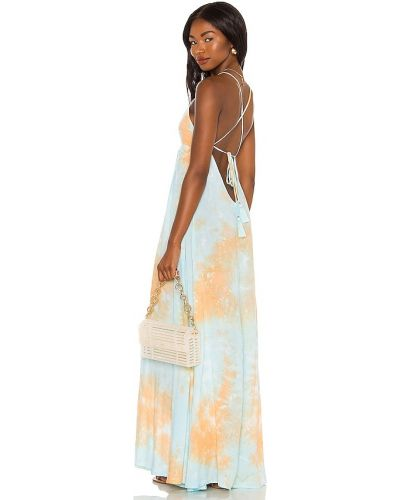 Кружевное платье макси - синее Tiare Hawaii