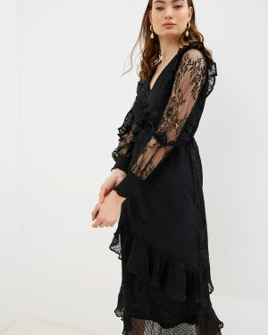 Вечернее платье осеннее черное River Island