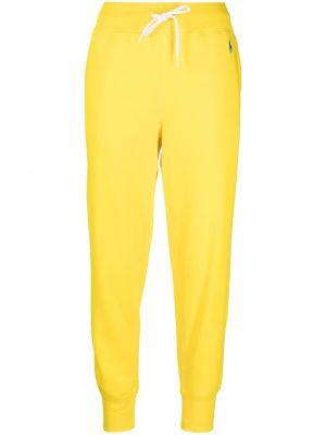 Żółty dres bawełniany z haftem Polo Ralph Lauren