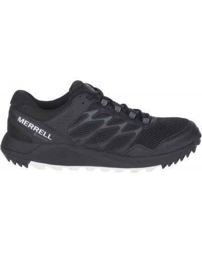 Кожаные черные кроссовки на шнуровке Merrell