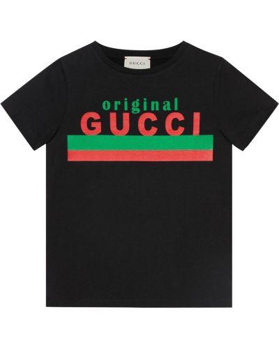 Czarna podkoszulka Gucci